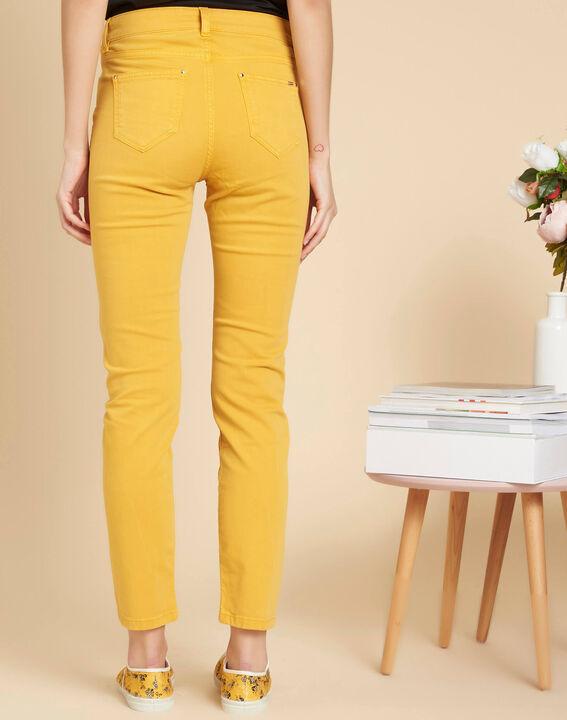 Jean slim délavé jaune taille normale Vendome (4) - 1-2-3