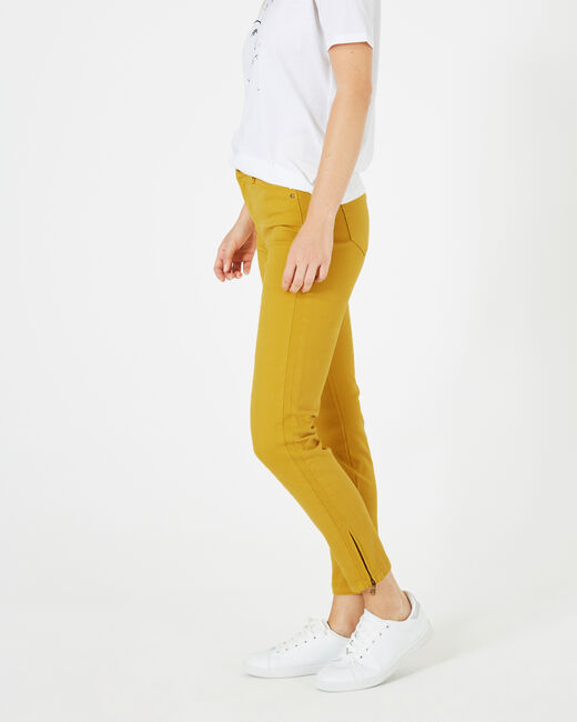 Pia yellow 7/8 length satin trousers (1) - 1-2-3