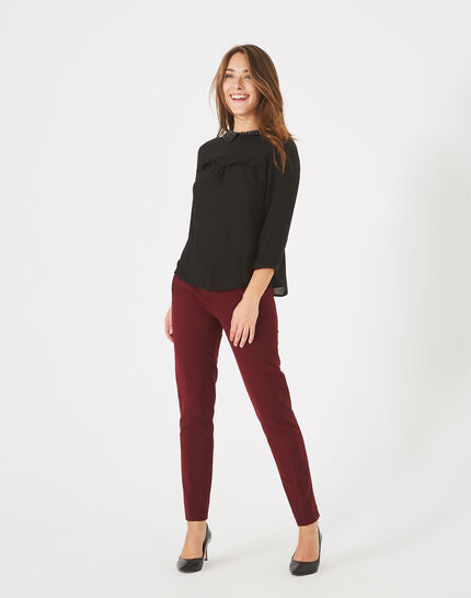 Lara blackcurrant tailored trousers PhotoZ | 1-2-3
