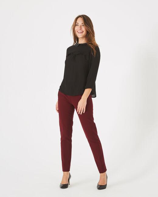 Pantalon de tailleur cassis Lara (1) - 1-2-3