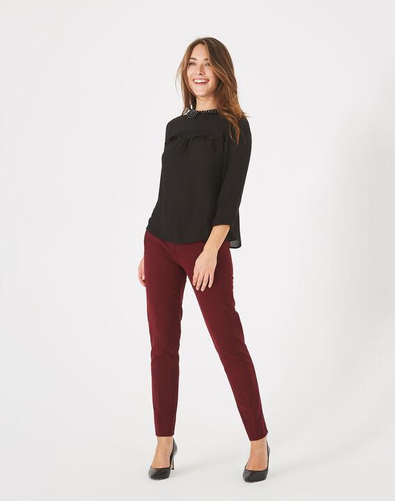 Pantalon de tailleur cassis Lara PhotoZ   1-2-3