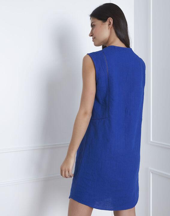 Robe bleue encolure décorée Lolita (4) - Maison 123