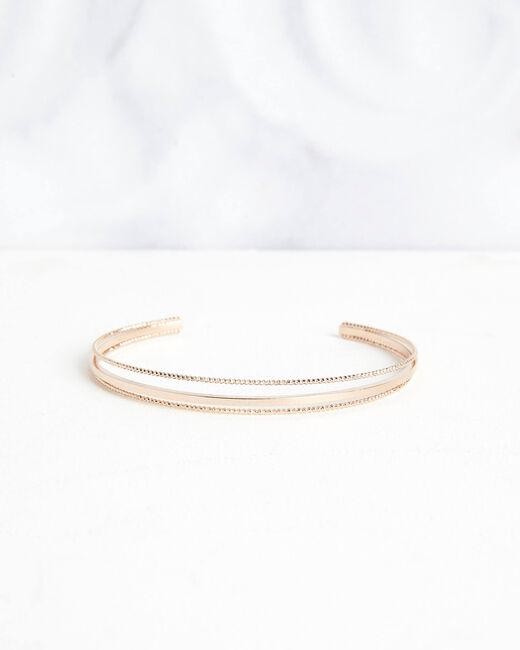 Bracelet jonc doré Octavia (2) - 1-2-3