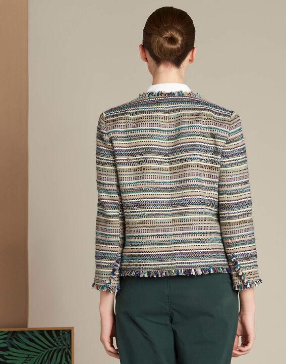 Veste en tweed et poches plaquées Citrouille (4) - 1-2-3