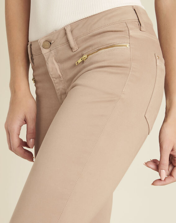 Rosa gerade Jeans mit Reißverschlusstaschen Germain (3) - 1-2-3