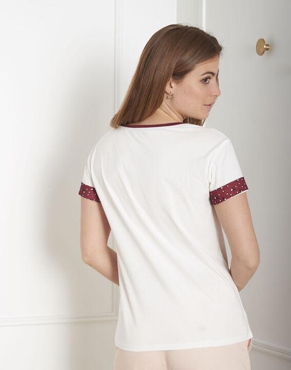 Tee-shirt écru imprimé Kyoto Pan (3) - Maison 123