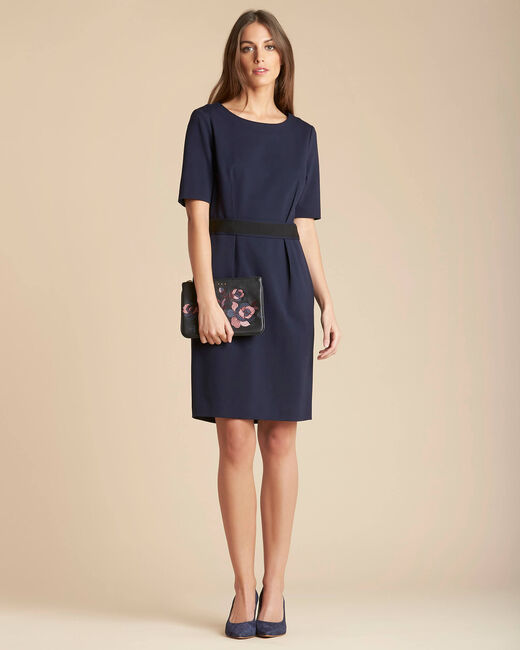 Pam belted navy blue dress (1) - 1-2-3