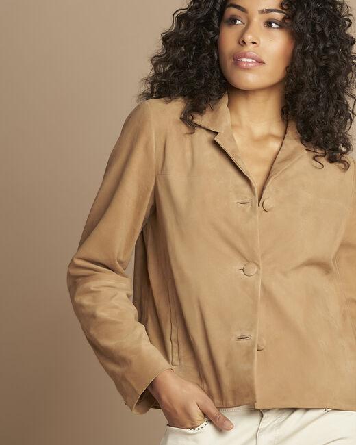 Tilane short camel suede jacket (2) - 1-2-3
