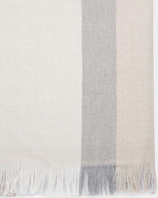 Echarpe gris chiné en laine mélangée Ella (2) - 1-2-3