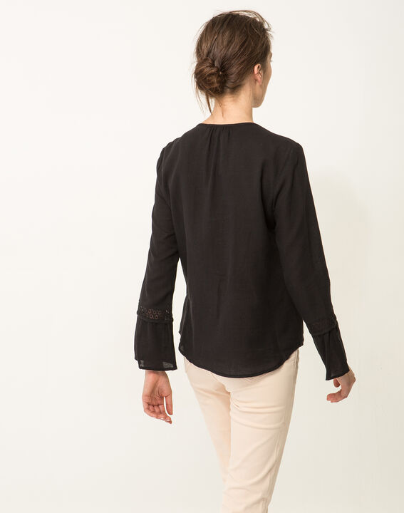 Edelys black cotton blouse (4) - 1-2-3