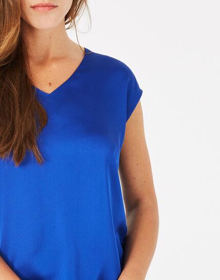 Tee-shirt bleu roi Blanche (5) - 1-2-3