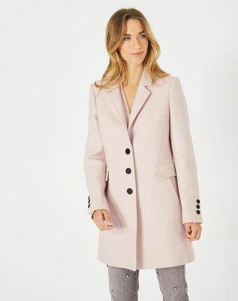 Manteau poudre en laine mélangée plume poudre.
