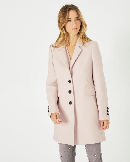 Manteau poudre en laine mélangée Plume (2) - 1-2-3