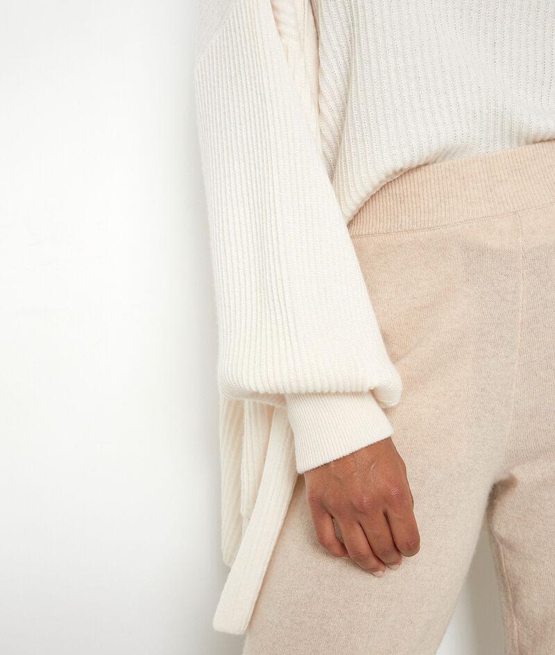 Lange Strickjacke aus recyceltem Kaschmir ecru Thylyan PhotoZ | 1-2-3