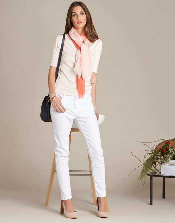 Ecume pale pink T-shirt with eyelets on the shoulders (2) - 1-2-3