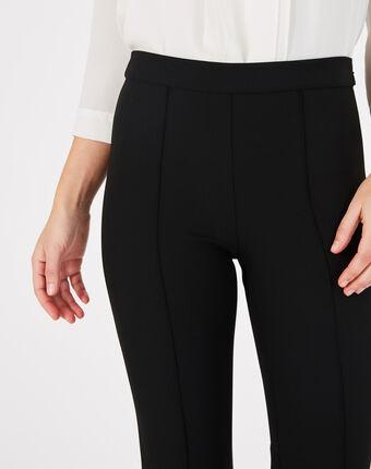 Pantalon de tailleur noir fuselé vitamine noir.
