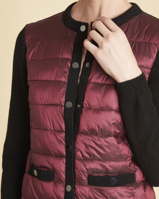 Snow red quilted dual-fabric jacket (2) - 1-2-3