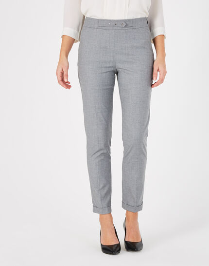 Vupsy tailored grey trousers with turn-ups (2) - 1-2-3