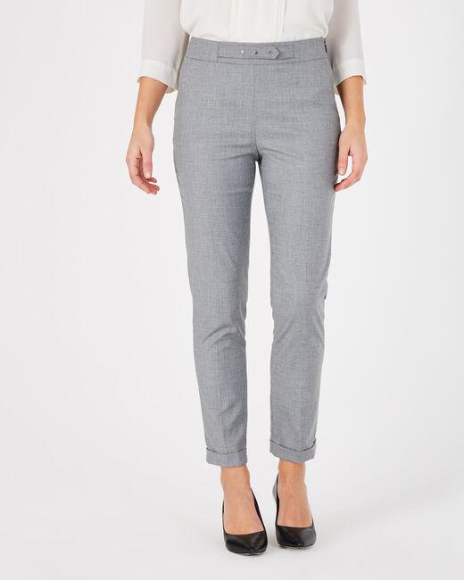 Pantalon de tailleur gris à revers Vupsy (2) - 1-2-3