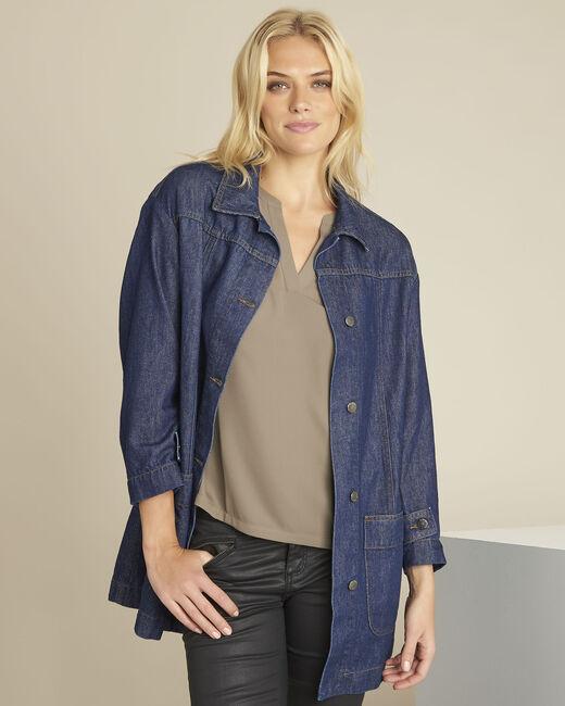 Manteau en jean gros grain Sultan (2) - 1-2-3