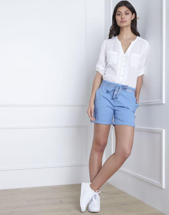 Blaue Shorts aus Baumwolle mit Gürtel James PhotoZ | 1-2-3