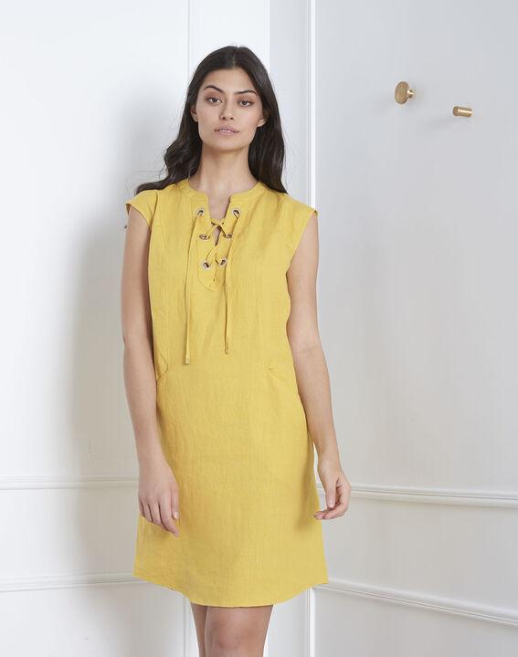 Robe jaune oeillets et lacets Lucky (1) - Maison 123