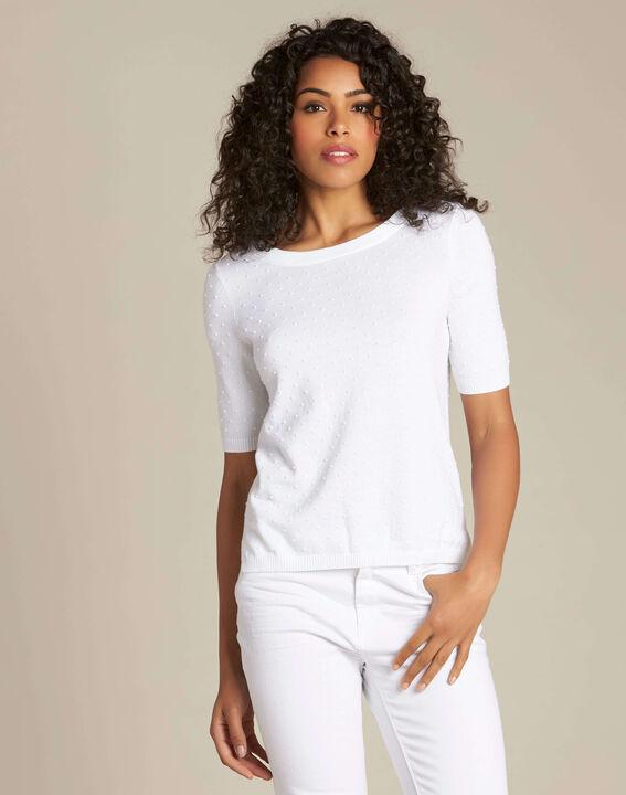 Pull blanc avec noeud dos Nadia (3) - 1-2-3