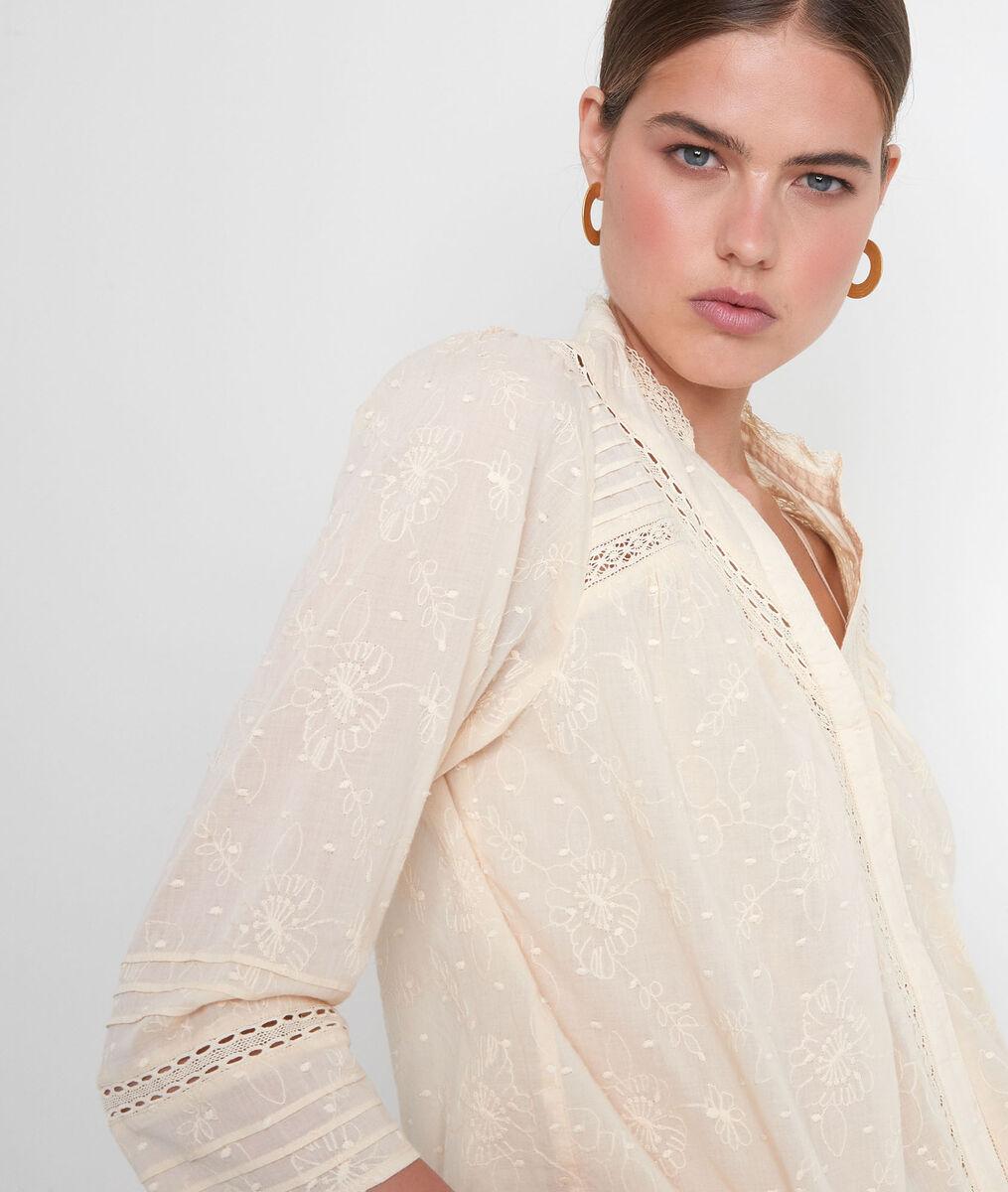 Strogele katoenen blouse met borduurwerk Aicha PhotoZ | 1-2-3