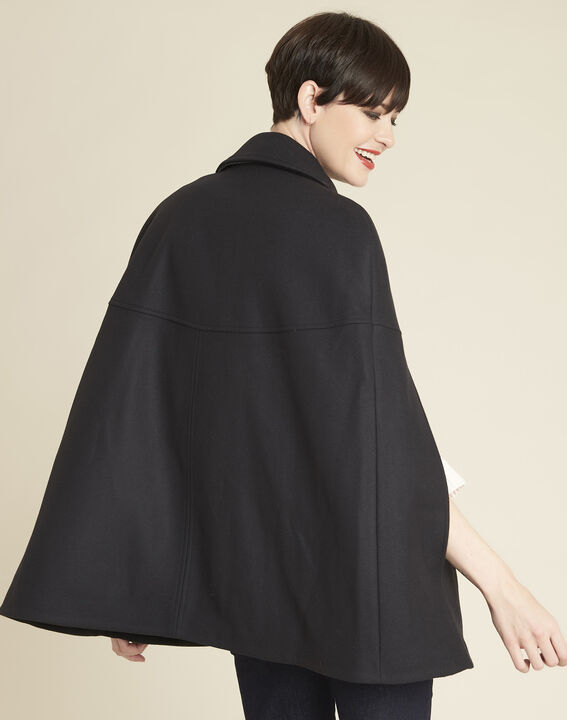 Ernest wool blend navy blue cape (4) - 1-2-3