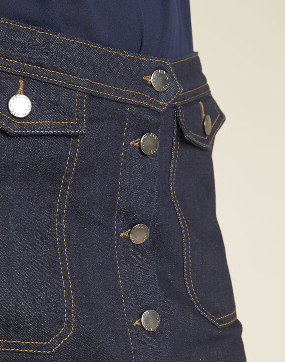 Ambre denim skirt with buttons on the front (3) - 1-2-3