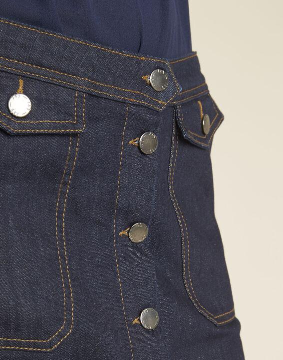 Jupe en jean boutonnage devant Ambre (3) - 1-2-3