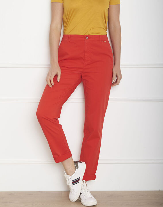 Pantalon rouge chino Calypso PhotoZ | 1-2-3