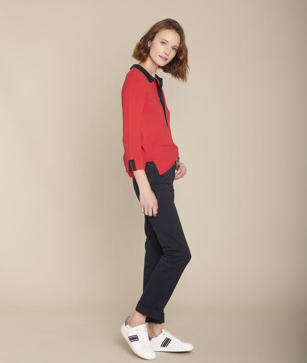 Pull rouge milano col polo Formule PhotoZ | 1-2-3
