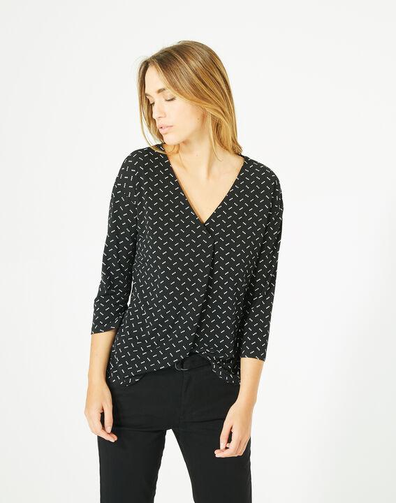 Tee-shirt noir à pois Bruna (3) - 1-2-3