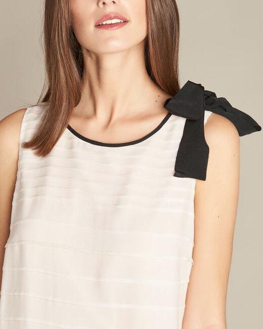 Puderfarbenes Volant-Kleid aus Seide Ines (1) - 1-2-3