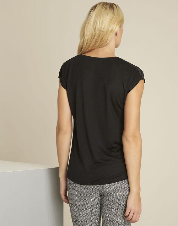 Tee-shirt noir reliefé Georgia (4) - 1-2-3