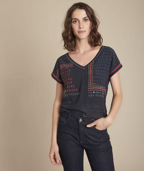 Tee-shirt bimatière imprimé Motive PhotoZ | 1-2-3