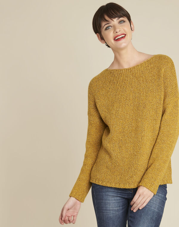 Gele trui met ronde hals van gemengd wol Bagno (1) - 37653