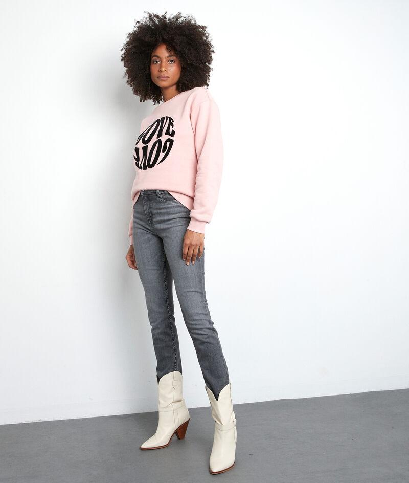 Sweat-shirt doux floqué rose Eloise PhotoZ | 1-2-3