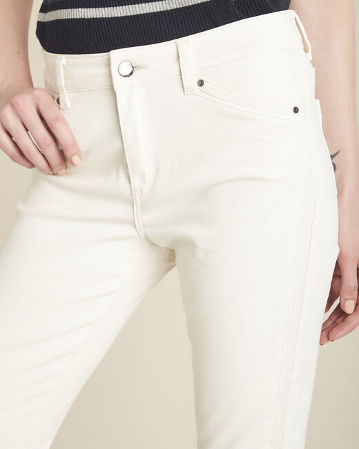 Opera beige 7/8 length coated jeans (2) - 1-2-3