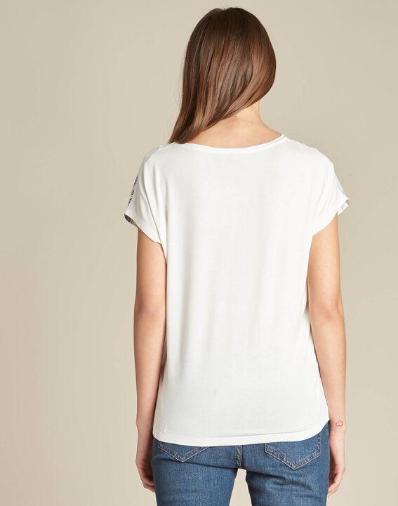 Tee-shirt rayé imprimé ginkgo Erbier (4) - 1-2-3