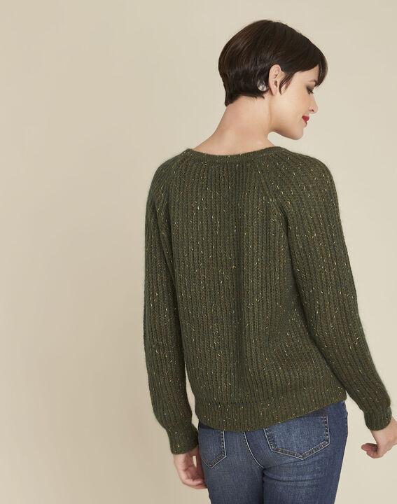 Baroudeuse iridescent khaki mohair pullover (4) - 1-2-3