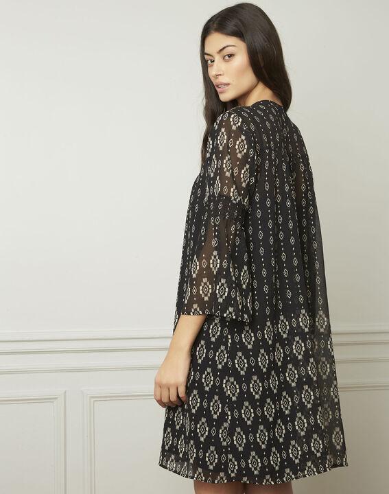 Robe noire motifs fantaisie Loise (3) - Maison 123