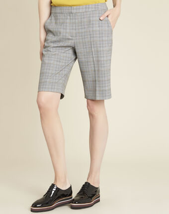 Hinox grey shorts with prince of wales design mid chine.