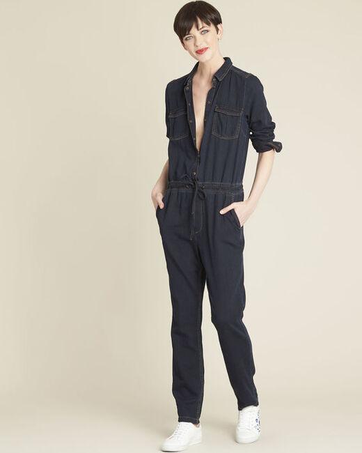 Desire navy denim jumpsuit (2) - 1-2-3