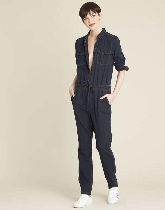 Donkerblauwe overall van jeans Desire PhotoZ | 1-2-3
