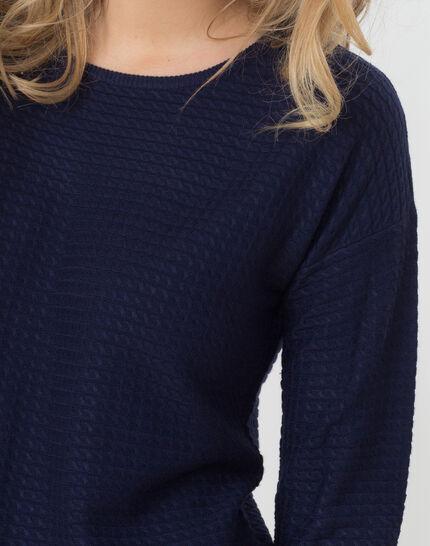 Pull bleu foncé manches longues Hélice (5) - 1-2-3
