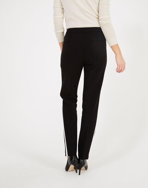 Pantalon de tailleur noir et blanc à bandes Vadim (4) - 1-2-3