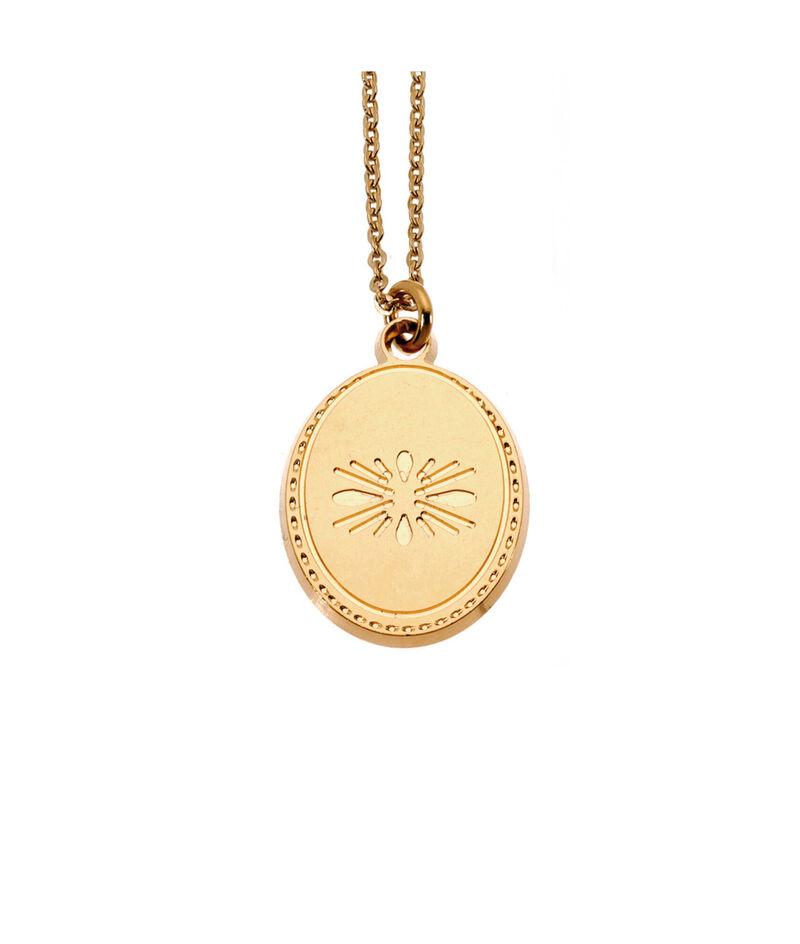 Collier médaille fleurs or Bijoux Léone PhotoZ | 1-2-3