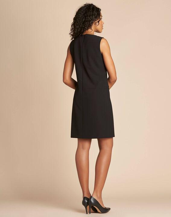 Robe droite noire sans manches Prisca (4) - 1-2-3